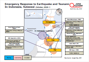 Emergency Response to Western Japan Floods Activities Map
