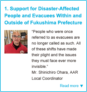 1. Support for Disaster-Affected People and Evacuees Within and Outside of Fukushima Prefecture