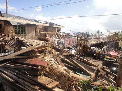 ンダナオ島 東ダバオ州バガンガ(Baganga)の被災状況