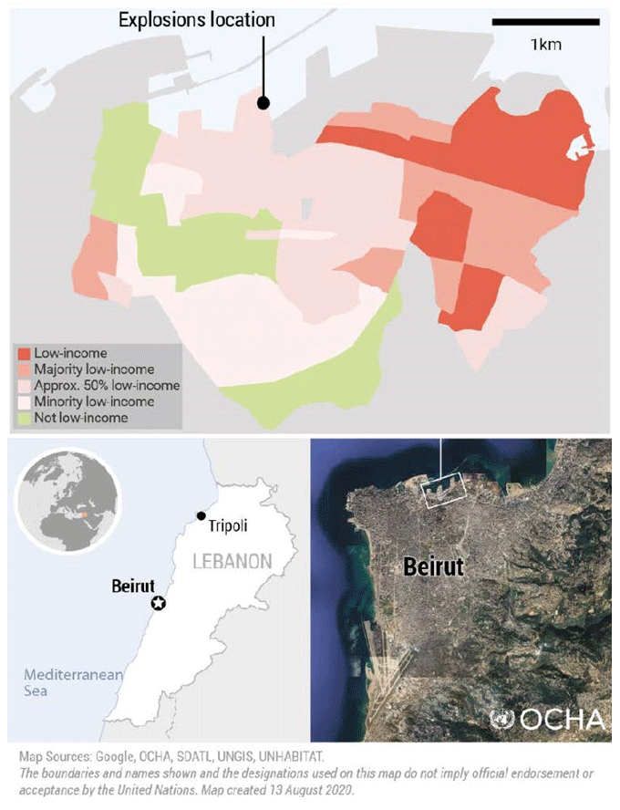 the port area of the Lebanese capital Beirut