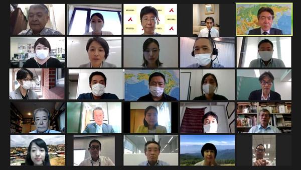 オンラインで開催された「MSC第1回勉強会」 ©UNHCR