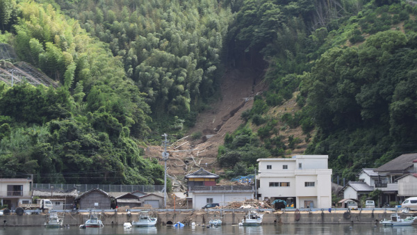 11. Landslide Damages / 10th July Uwajima City ©JPF