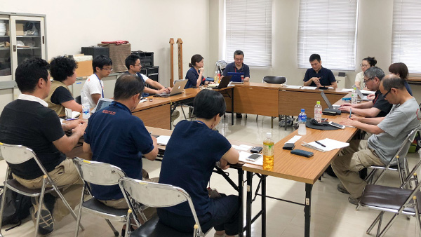 22.The sharing information meeting for cooperation and coordination with other NGOs and local government at Kurashiki city hall, Okayama/ 17th July 2018 ©JPF