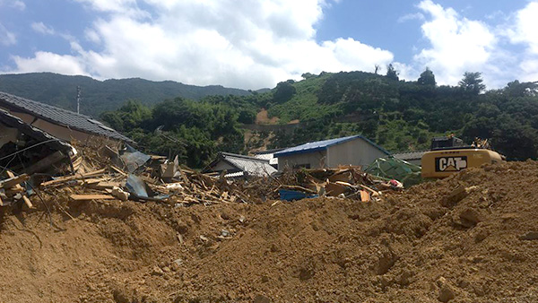 25. Houses damaged by landslides, Uwajima, Ehime, 20th July 2018 ©JPF