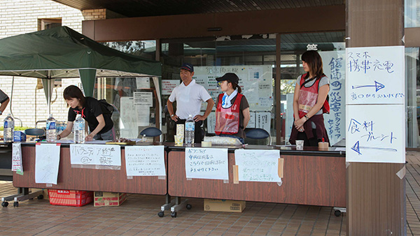 Volunteer reception at the town hall in Kyonan ©JPF