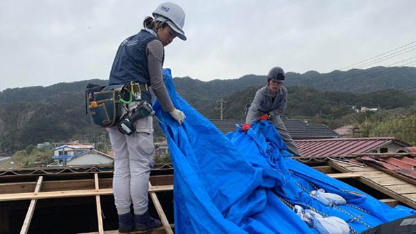 Roof Tarping Assistance in  Kyonan, Chiba #2 ©PBV
