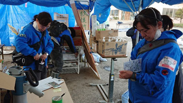 HuMA conducting relief  activities in Nagano Prefecture ©HuMA