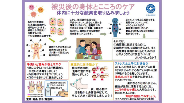 Handout How to take care of your physical and emotional health after a disaster ©MdM