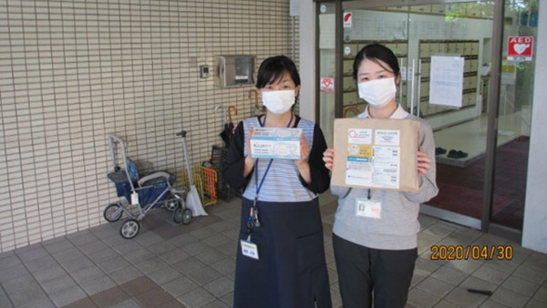 Masks being received at a facility ©PWJ
