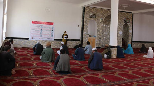 Infectious disease prevention awareness session, Afghanistan ©CWS