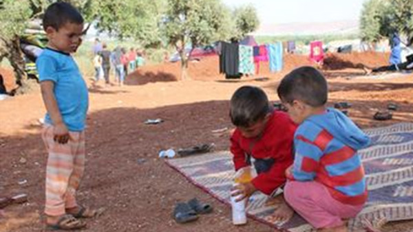 Children forced to leave their homes due to the conflict ©WVJ
