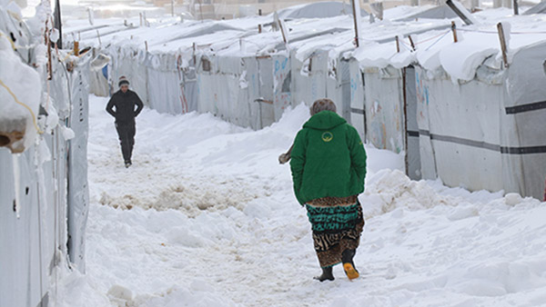 Snow covering the Arsal Refugee Camp 1 ©PARCIC (Courtesy of URDA, implementation partner)