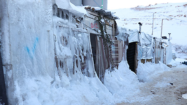 Snow covering the Arsal Refugee Camp 2 ©PARCIC (Courtesy of URDA, implementation partner)